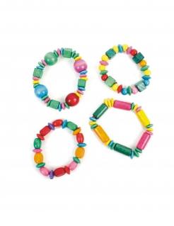 Holzarmband Piñata-Accessoire bunt 16cm