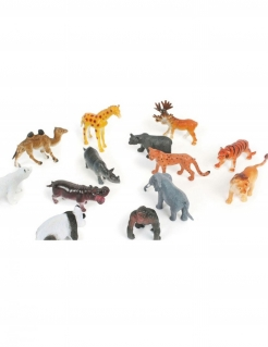 Zootiere Piñata-Spielzeug Partydeko Stück bunt 6cm