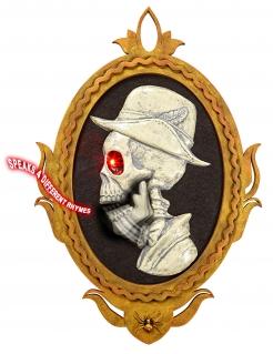 Spukendes Bild Skelett-Portrait mit Soundausgabe bunt 32 x 48 cm