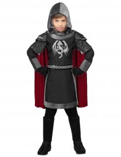 Mutiger Drachen-Ritter Kinder-Kostüm für Jungen grau-schwarz-rot