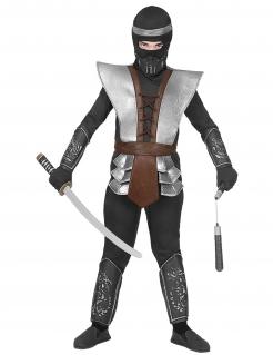 Legendärer Ninja-Meister Kinder-Kostüm für Jungen grau-braun-schwarz