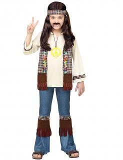 Hippie-Kostüm für Kinder Faschingskostüm braun-beige-blau