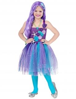 Meerjungfrau-Kostüm Kinder-Karneval-Kostüm türkis-lila