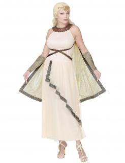 Römische Herrscherin-Kostüm für Damen Karnevalskostüm weiss-gold