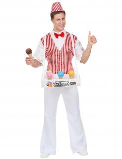 Eisverkäufer-Kostüm für Herren Faschingskostüm bunt