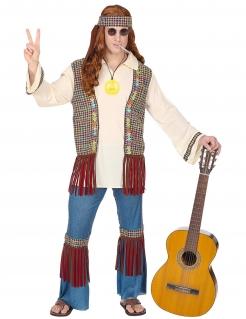 Peace-Kostüm für Herren Hippie Karnevalskostüm bunt