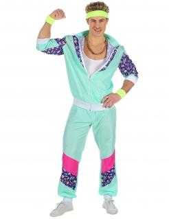 80er Jahre Trainingsanzug für Herren Karnevalskostüm blau