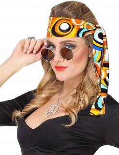 Disco-Haarband 70er Accessoire bunt