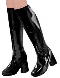 Schuhüberzüge Retro-Stiefel schwarz
