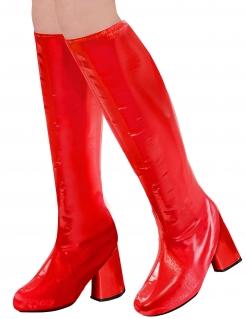Retro-Stiefel 60er Jahre Kniestiefel für Damen rot