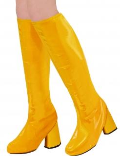 Schuhüberzüge 70er-Stiefel  gelb