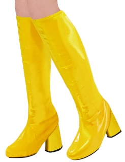 Schuhüberzüge Disco-Stiefel gelb