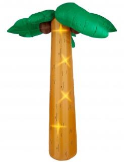Aufblasbare Palme mit Licht Partydeko braun-grün 270 cm