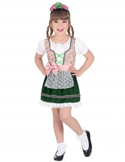 Bayerisches Trachten-Kostüm für Mädchen weiss-rosa-grün