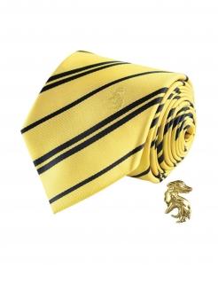 Hufflepuff™-Krawatte mit Pin Deluxe Harry Potter™ gelb-schwarz
