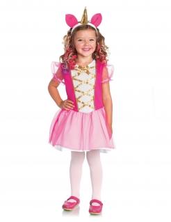 Fabelhaftes Einhorn-Kostüm für Mädchen pink-weiss-rosa