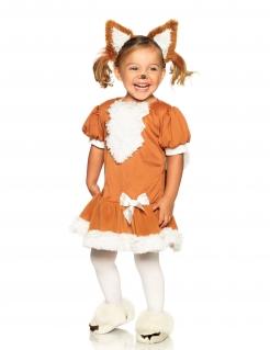 Niedliches Fuchs-Kostüm für Mädchen Tierkostüm braun-weiss