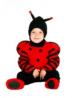 Marienkäfer-Kostüm für Babys Faschingskostüm rot-schwarz