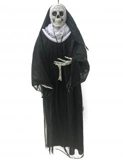 Nonnen-Hängedeko für Halloween schwarz-weiss 86 cm