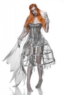Zombie-Braut Damenkostüm Halloweenkostüm grau