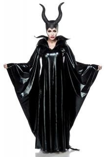 Dunkle Fee-Kostüm für Damen Karnevalskostüm Deluxe schwarz