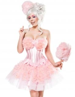 Zuckerwatten-Damenkostüm Faschingskostüm rosa