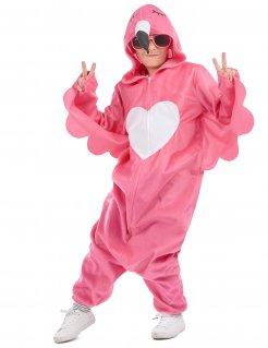 Hippes Flamingokostüm für Mädchen rosa-weiss