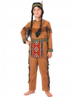 Indianer-Kinderkostüm mit Schürze Karnevalskostüm für Jungen braun-bunt