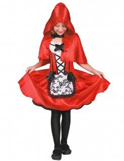 Schickes Rotkäppchen-Kostüm für Mädchen Märchenkostüm für Kinder rot