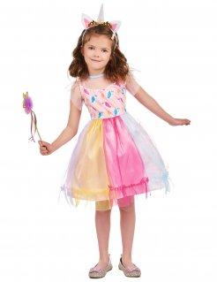 Einhorn-Kostüm für Mädchen bunt