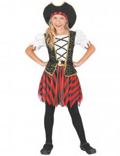 Edles Piraten-Kostüm für Mädchen Piratenkapitänin bunt