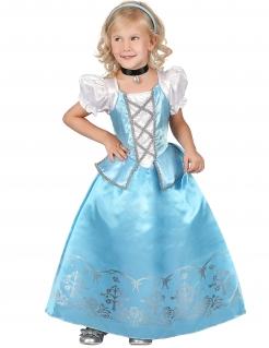 Prinzessinnenkostüm für Mädchen blau-weiss-grau