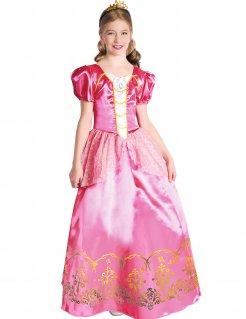 Prinzessin-Kostüm für Mädchen rosa-gold-weiss