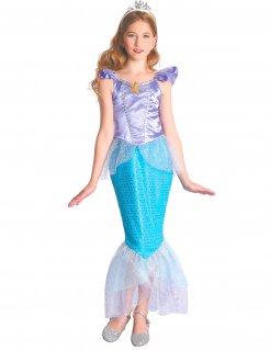 Meerjungfrau-Kostüm für Mädchen blau-violett