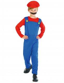 Klempner-Kostüm für Kinder blau