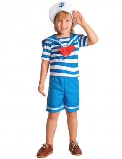 Matrosen-Kostüm für Jungen Berufskostüm für Kinder weiss-blau