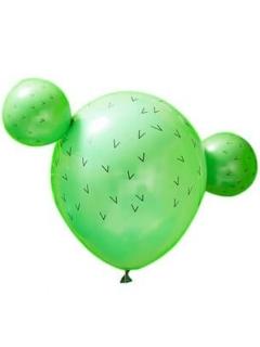 Kaktus-Luftballons 15 teilig grün 30cm