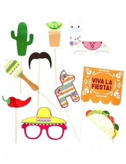 Photobooth-Set Fiesta Mexicana 10-teilig bunt