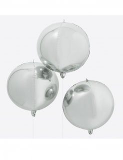 Riesen-Luftballon Partydeko metallic silber 55 cm