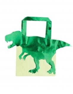 Geschenktüten Dinosuarier 5 Stück grün 22,5cm