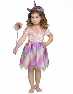 Einhorn-Kostüm für Mädchen Faschingskostüm violett