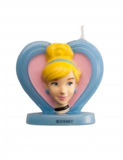 Cinderella™-Geburtstagskerze 3D Kuchendeko blau-gelb 5,5cm
