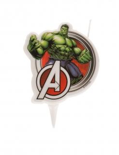 Hulk™-Geburtstagskerze Avengers™ Kuchendeko grün-rot 7,5cm