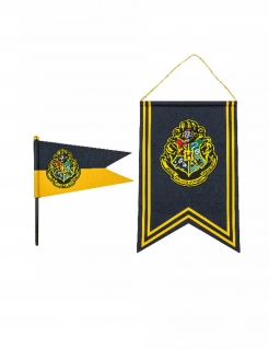 Hogwarts™-Banner und Fahne Harry Potter™ Partydeko blau-gelb