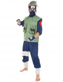Kakashi-Kostüm Naruto™-Lizenzkostüm für Herren grün-blau