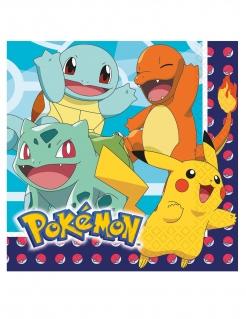 Pokémon™-Servietten Pikachu, Glumanda, Schiggy, Bisasam 16 Stück bunt 33x33cm