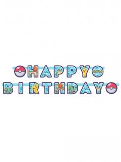 Pokémon™-Girlande Happy Birthday Partydeko bunt 218x12 cm