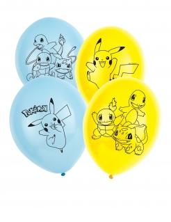 Pokemon™ Luftballons 6 Stück blau-gelb 30 cm