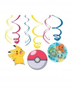 Pokémon Hängespiralen 6 Stück  bunt 60 cm