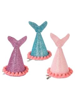Meerjungfrauen Partyhut Kindergeburtstag-Deko 3 Stück rosa-lila-blau